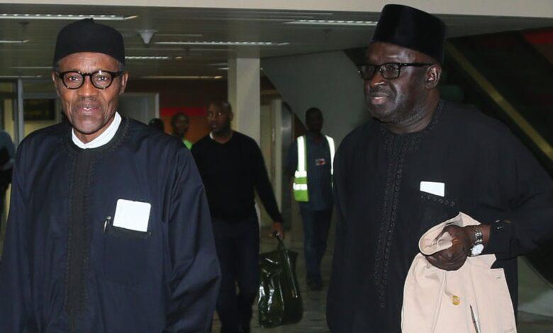President Muhammadu Buhari and Sarki Abba