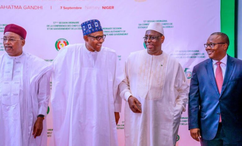 Buhari and some West African leaders at the ECOWAS summit in Niger Republic