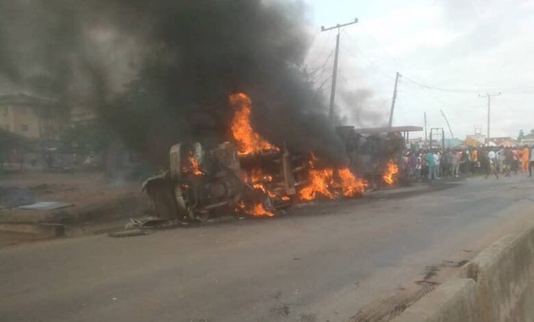 Photo of Many feared dead as petrol tanker explodes in Kogi