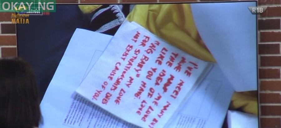 Ozo's letter to Nengi