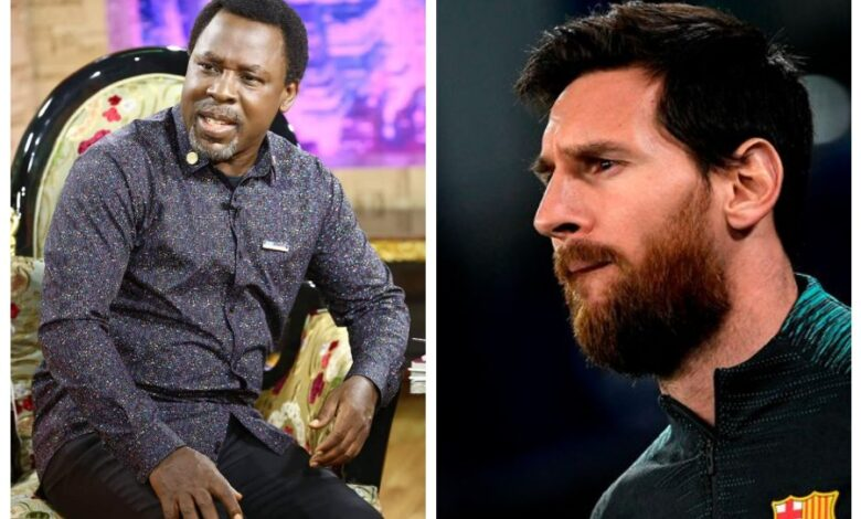 T.B Joshua and Messi