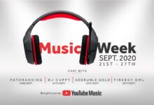 Photo of YouTube line-up Patoranking, DJ Cuppy, Adekunle Gold and Fireboy DML for 'YouTube Music Week'