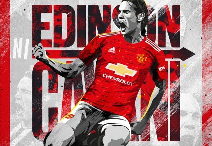Edinson Cavani joins Manchester United