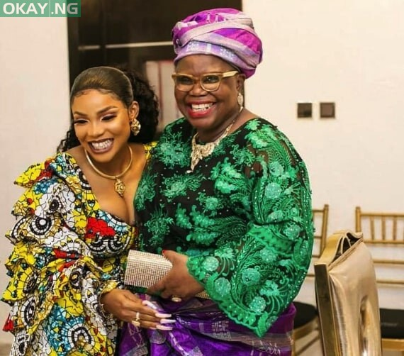 Iyabo Ojo and her mother, Victoria Olubunmi Fetuga