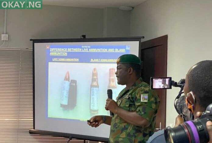 Brig. Gen. Ahmed Taiwo speaking before the Lagos judicial panel
