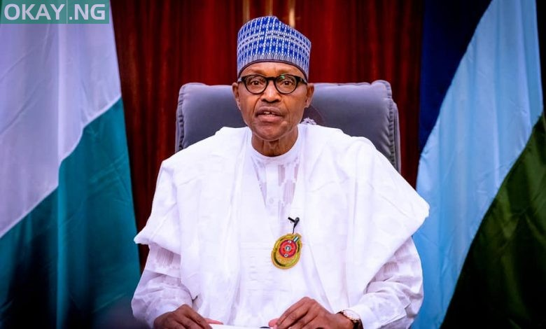 President Muhammadu Buhari delivering his New Year speech for 2021