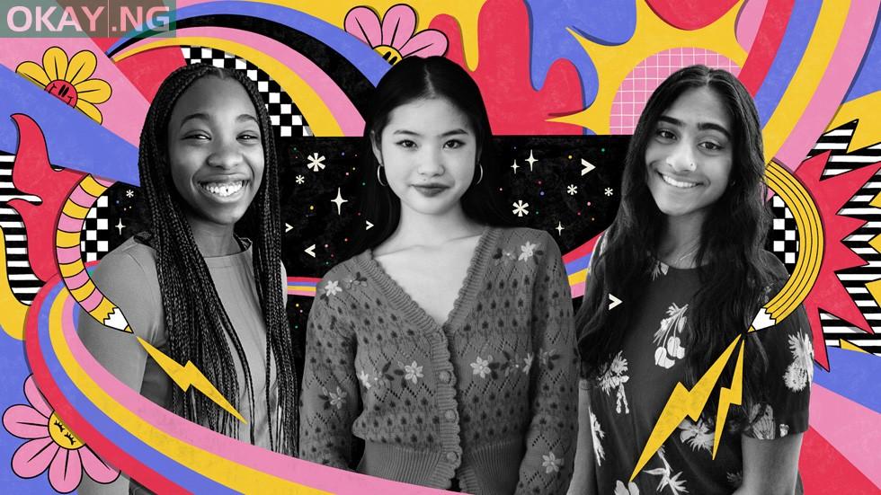 Swift Student Challenge winners — Damilola Awofisayo, Gianna Yan, and Abinaya Dinesh (from left)