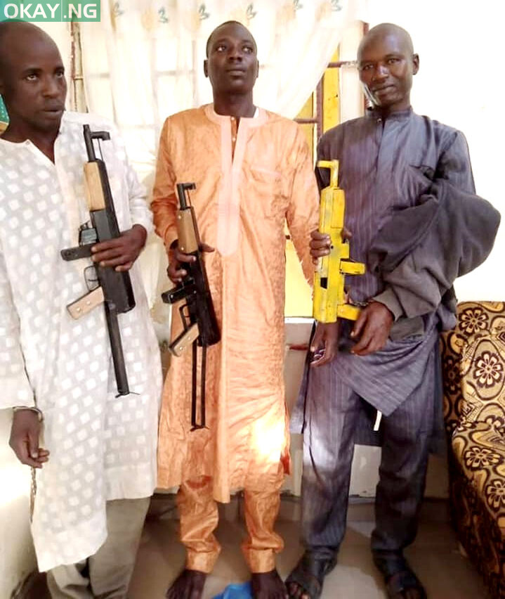 The three suspected bandits arrested by NDLEA operatives