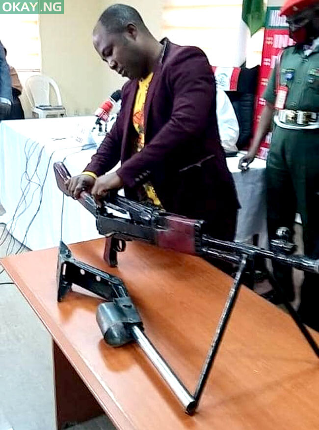 The heavy weapon recovered from manufacturer by NDLEA