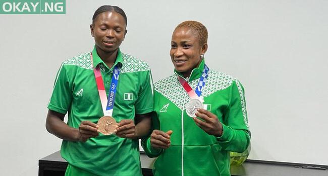 Blessing Oborodudu (right) and Ese Brume (left)