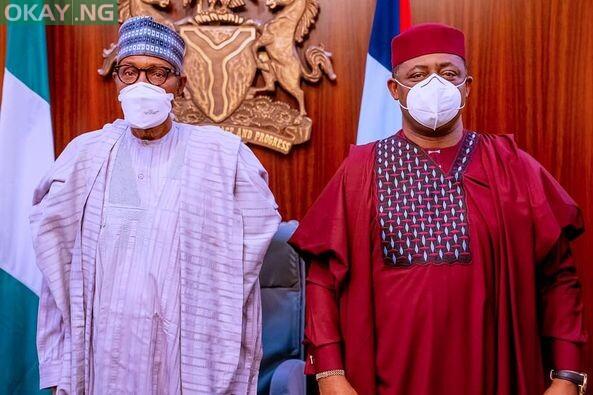 Femi Fani-Kayode meets President Muhammadu Buhari on 16th Sep 2021.