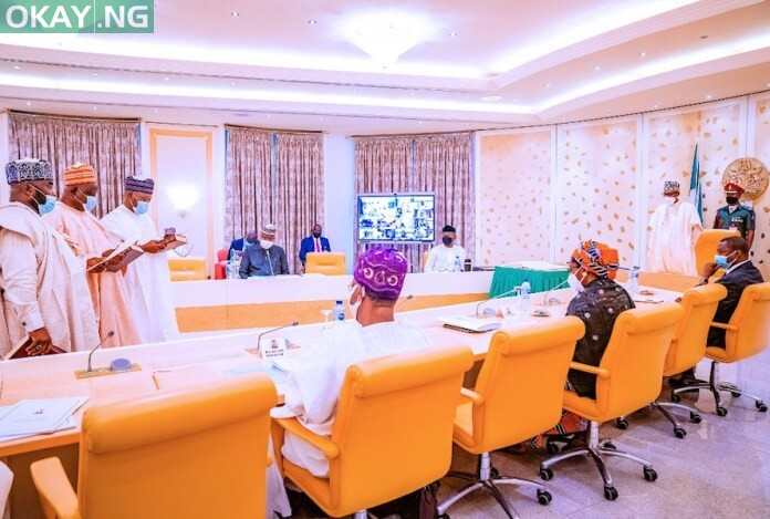 President Buhari swears in new INEC Commissioners and presides over the Federal Executive Council Meeting at the State House, Abuja on 15th Sept, 2021.
