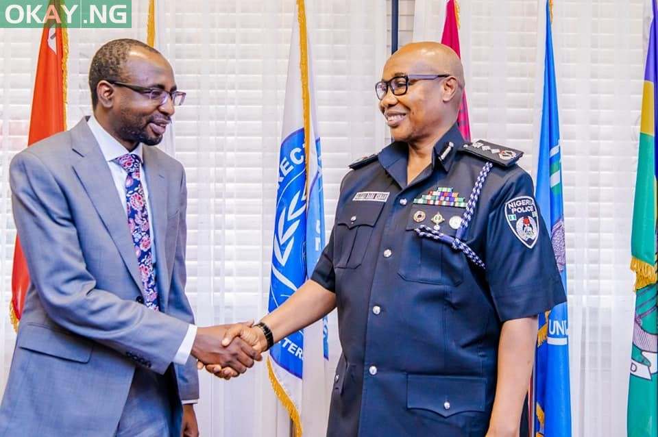 Inspector General of Police, Usman Alkali Baba, psc, fdc, NPM and Director General of NITDA, Kashifu Inuwa Abdullahi yesterday at Louis Edet House, Force Headquarters, Abuja