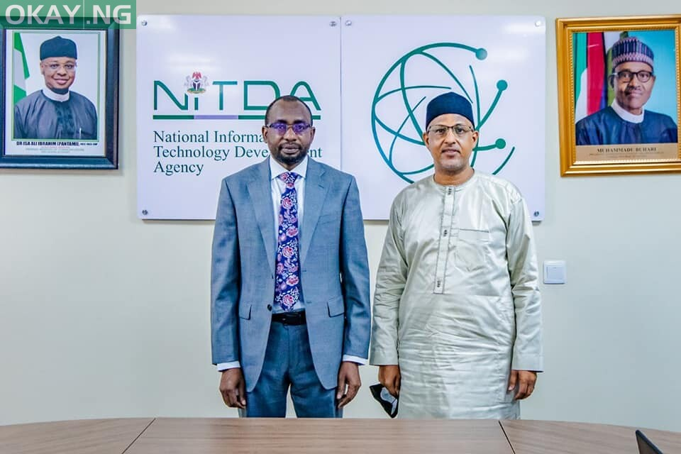 Director General of NITDA, Kashifu Inuwa Abdullahi and the President of Nigeria Internet Registration Association (NiRa), Muhammed Rudman